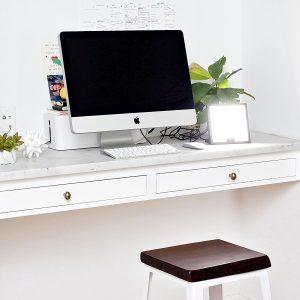 Circadian Optics Lumine on computer desk