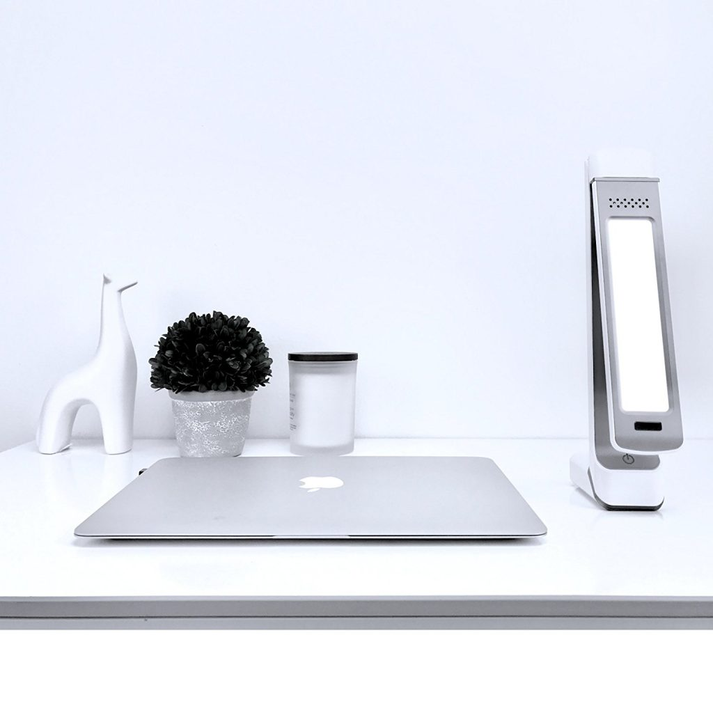 Circadian Optics Lumos 2.0 on stylish desk